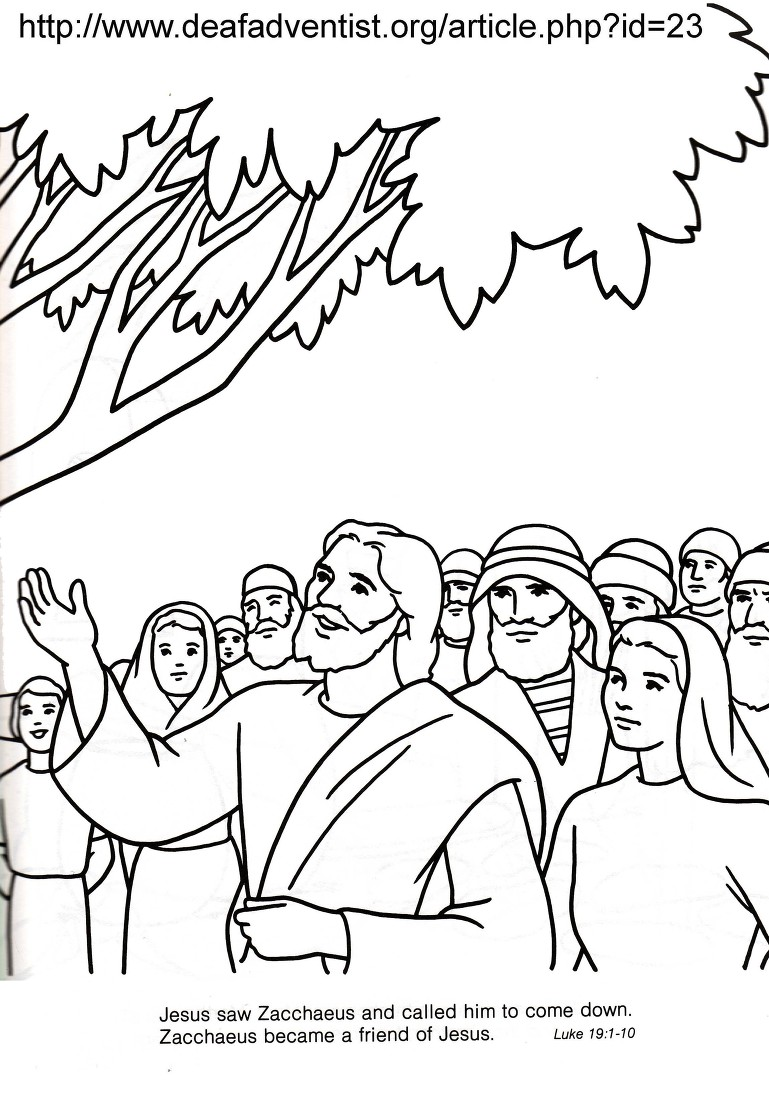 jesus with zacchaeus coloring