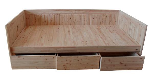 [편백나무쇼파형침대]제작했어요.편백나무가구,삼나무가구,편백 ...