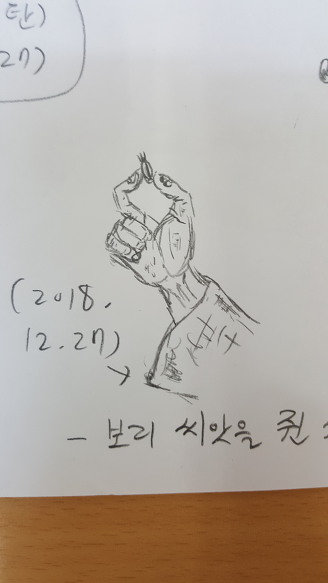 [낙서] 보리 씨앗을 쥔 사람의 손