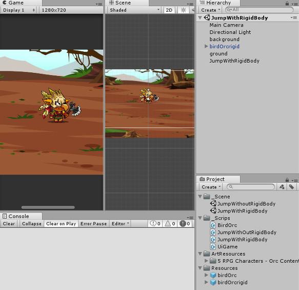 Unity 2D 캐릭터 점프하기 (with Rigidbody 2D)