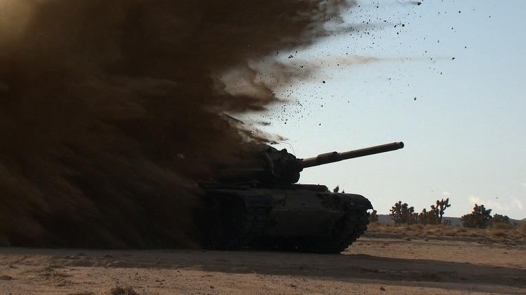 F35B  라이트닝 2 전투기의 M60A3 탱크 타겟 테스트- F35B Lighting 2  Paveway laser-guided bomb directing it on to a target M60A3 Patton Tank