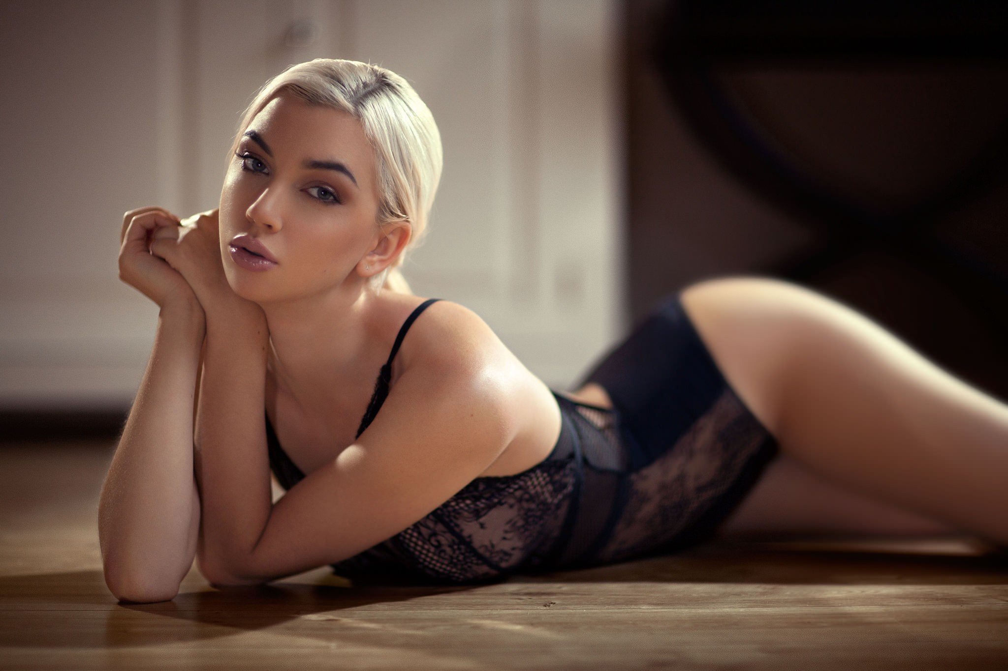 hot girl in sexy lingerie